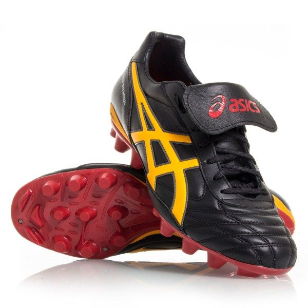 9d67f3d1f4216 Asics Lethal Testimonial 3 IT - Mens Football Boots - Black/Sun/Red ...