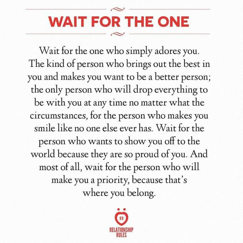 Wait for the one...