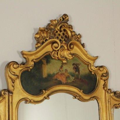 Paravento con specchi - particolare