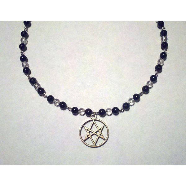 Supernatural onyx quartz unicursal hexagram necklace men of supernatural onyx quartz unicursal hexagram necklace men of mozeypictures Images