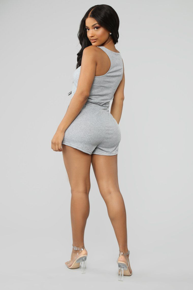 f2e1c65183ed6 Michelle Ribbed Romper - HeatheredGrey in 2019 | CHOOSE YOUR OWN ...