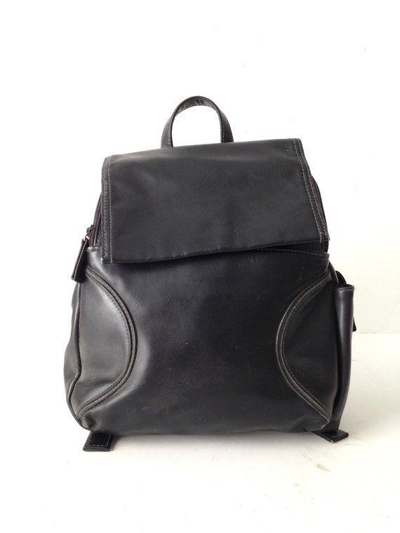 f66be61edd3 90s patchwork black faux leather mini RUCKSACK backpack | Products ...