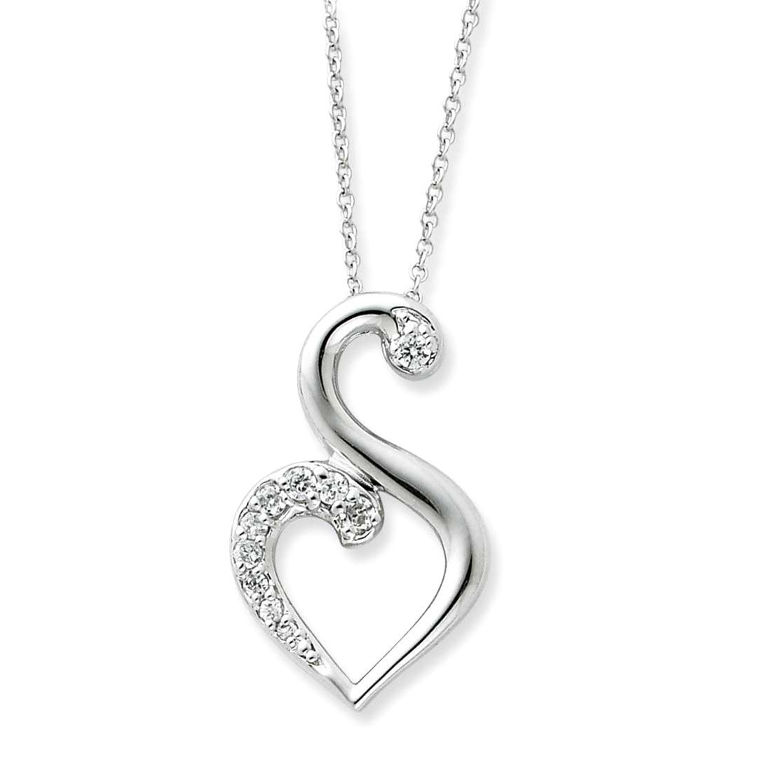 Versil Sterling and Cubic Zirconia Journey of Friendship Necklace