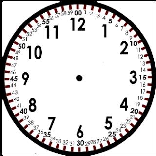 Tchrgrl Measuring Time Teaching Time Clock Template Homeschool Math