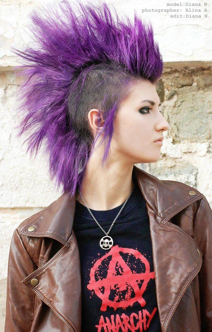 Love that purplei miss my mohawk mohawks uc pinterest