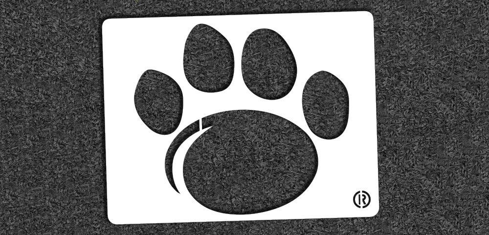 Penn State Paw Mini Stencil Stencils, Mini