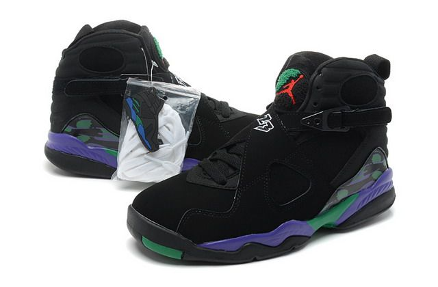 b3670210659 Nike Air Jordan 8 Retro Aqua Mens Shoes Black / Dark Concord / Anthracite /  Green