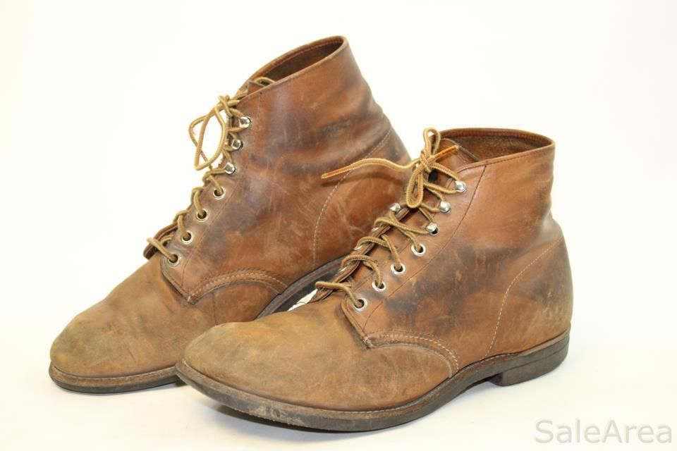 8a818951e36ff Red Wing Shoes Mens 9 D Brown Distressed Leather Ankle Work Chukka Boots bd   RedWing  AnkleBoots