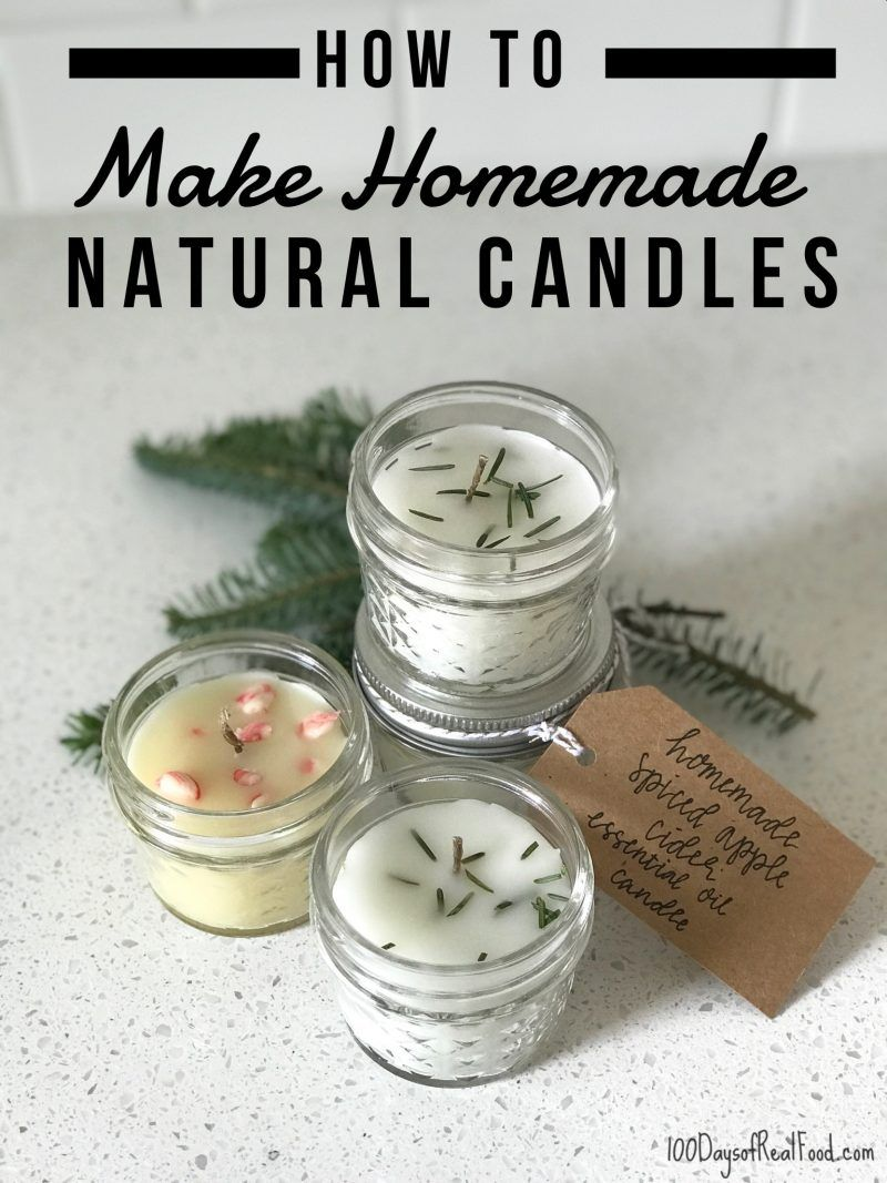 How to Make Homemade Natural Candles (a fun project & gift idea!) #homemadechristmasgifts