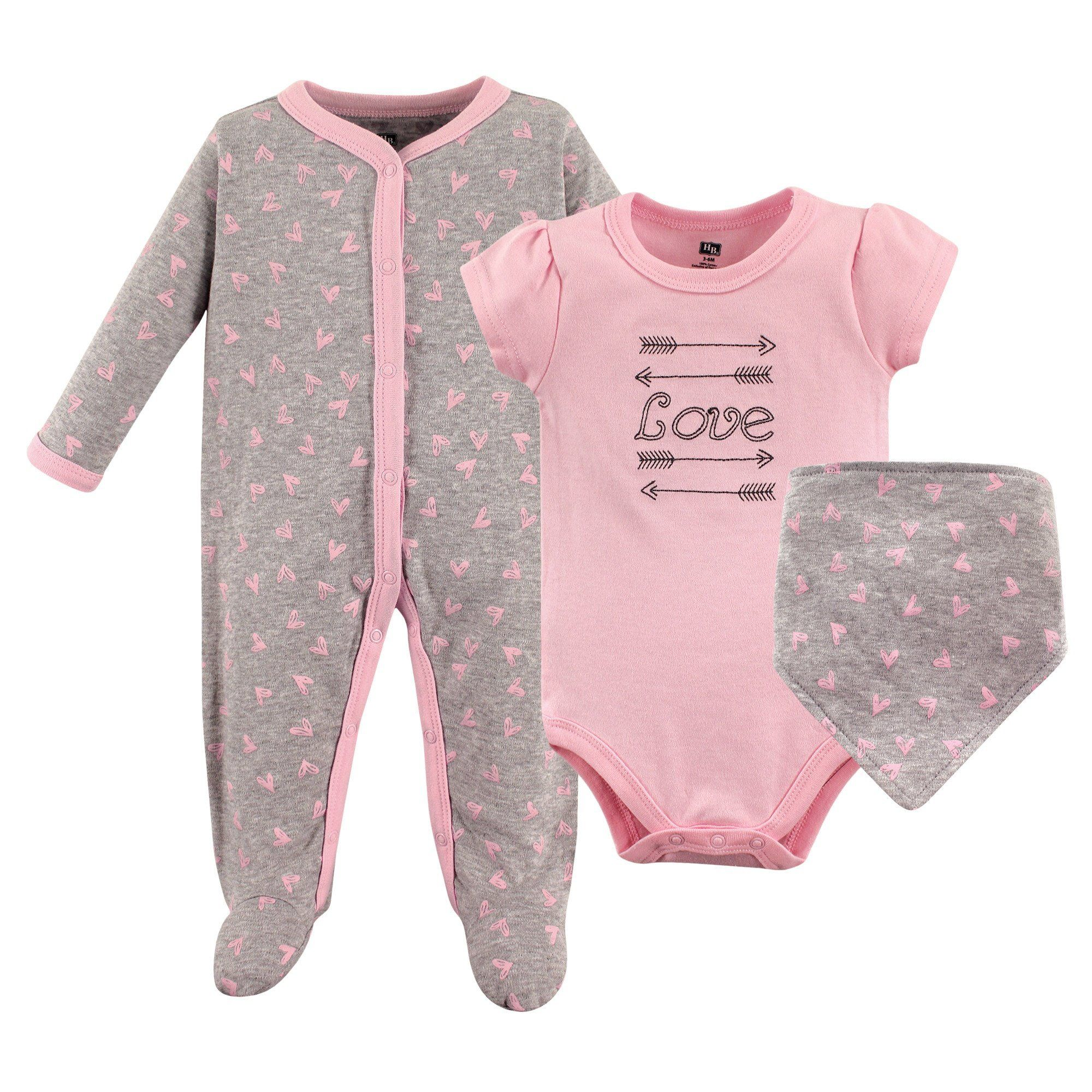 Hudson Baby Layette Clothing Set 3 Pieces