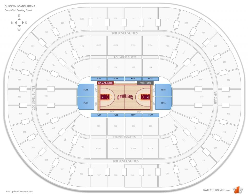 Cleveland Cavaliers Club Seating At Rocket Mortgage Fieldhouse Regarding Quicken Loans Concert Seating Chart Quickenloansarenaconcer Seating Charts Quicken Loans Chart