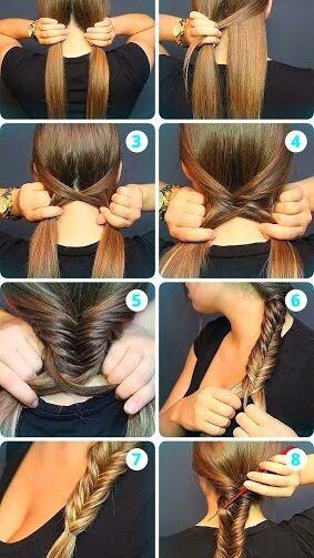 Pin By Rita On Braid Ideas And Tutorials Hair Styles Messy Fishtail Braids Long Hair Styles