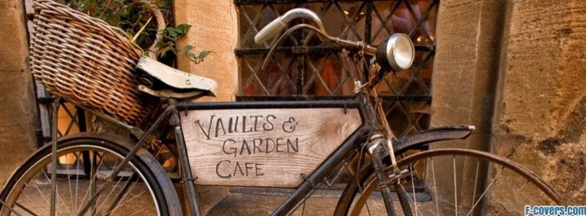 Vintage Bicycle Cafe Sign Facebook Cover Bicycle Cafe Cafe Sign Vintage Facebook Cover