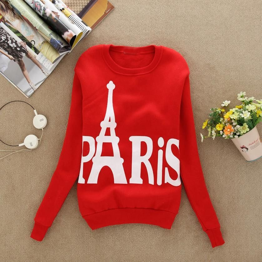 Best-seller Free Shipping Women Long Sleeve Printed Pullover Loose Sweatshirts clothes gift for valentine's Day51116