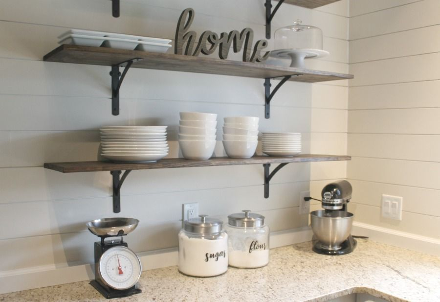 DIY Kitchen Shelves for Under $100 How To Kitchen Pinterest
