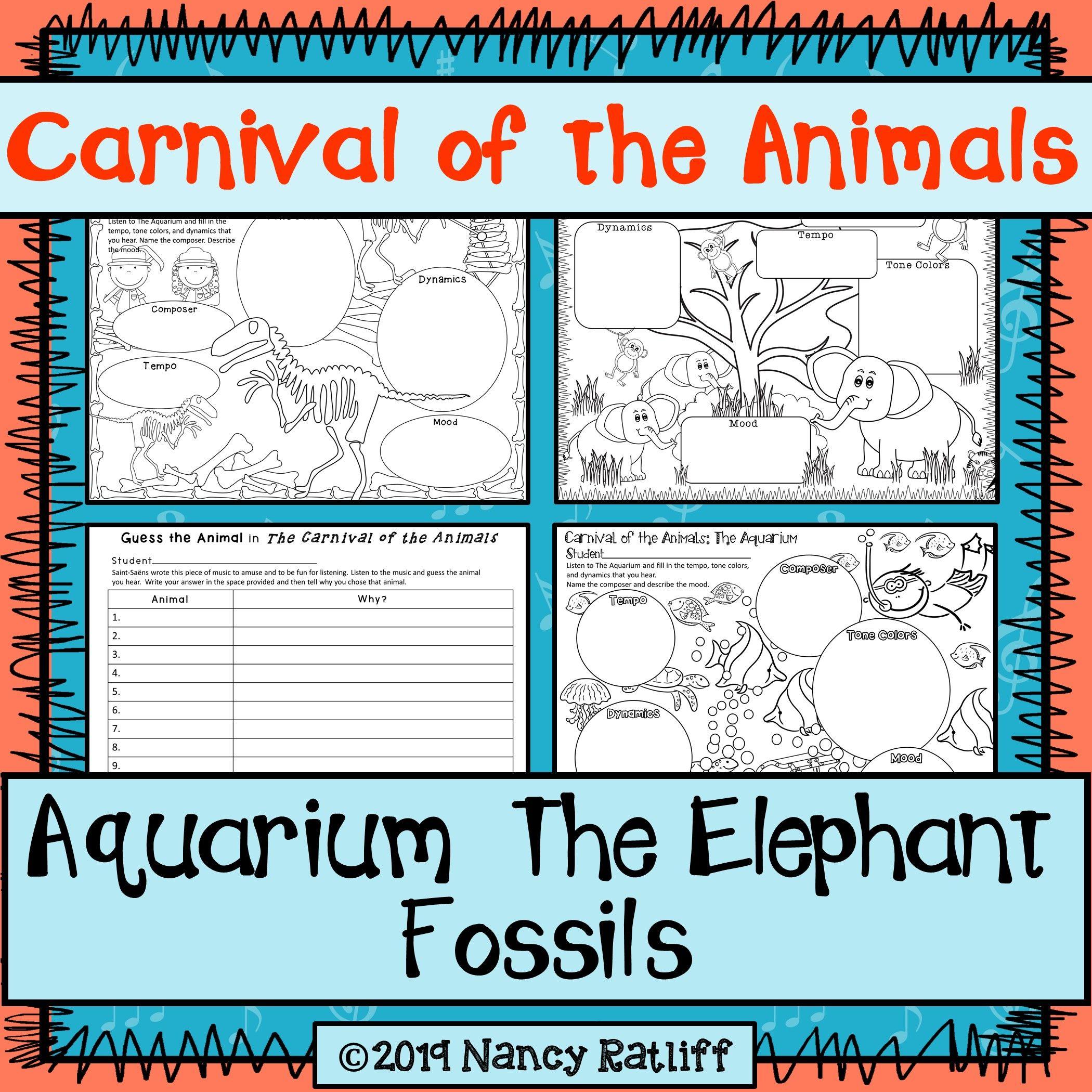 Carnival Of The Animals Aquarium The Elephant Fossils