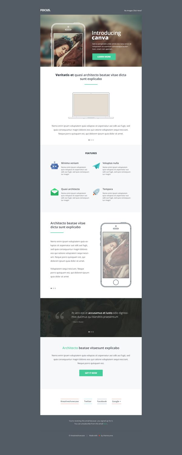 Freebie Canva Multipurpose Newsletteremail Psd On Behance