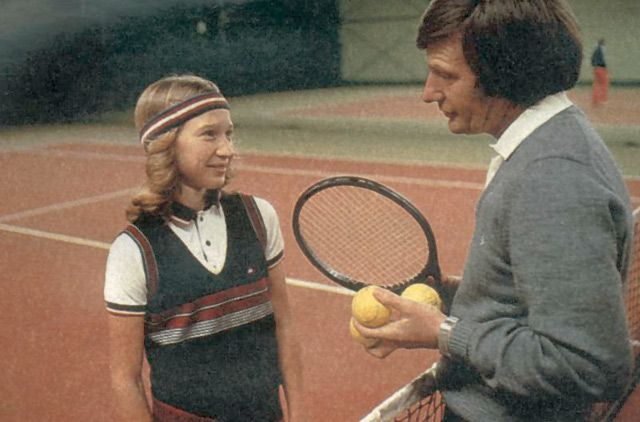 12 1983 Young Steffi Graf With Father Peter Tennis Champion Steffi Graf Tennis Players