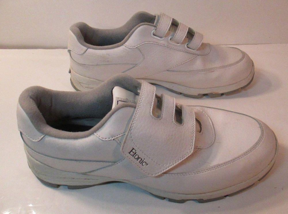 ETONIC Lites White Leather VELCRO Hook