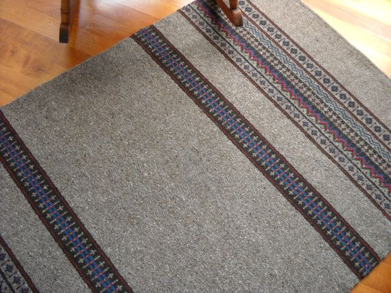 Handwoven wool rug large flat weave rug heather brown for Decor international handwoven rugs