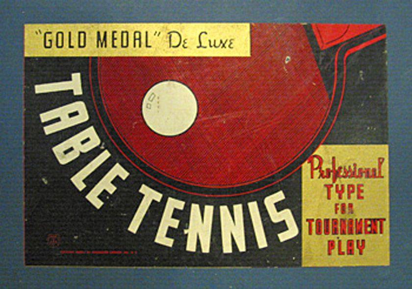 Table Tennis Box Vintage packaging, Tennis, Ping pong