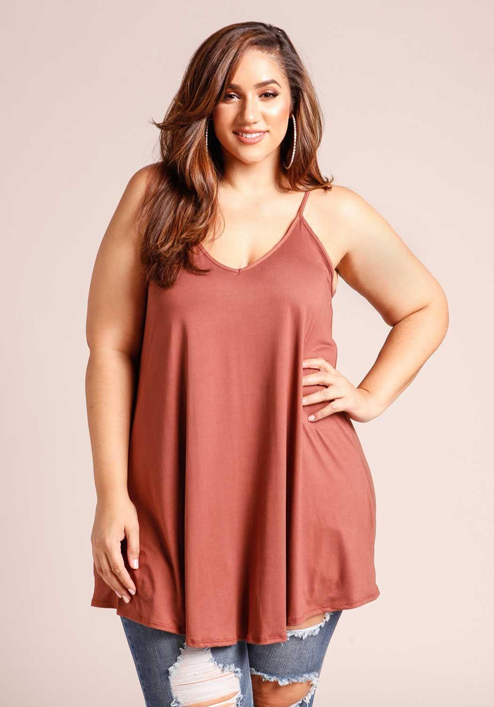 Plus Size Flared Cami Tank Top Erica Lauren Mcneill