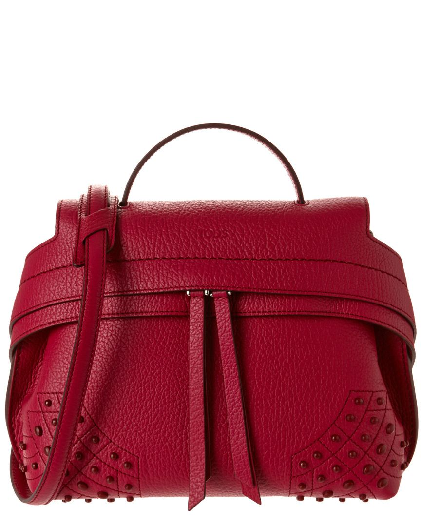 30d1fad6e57 TOD's Wave Mini Tumbled Leather Shoulder Bag is on Rue. Shop it now ...