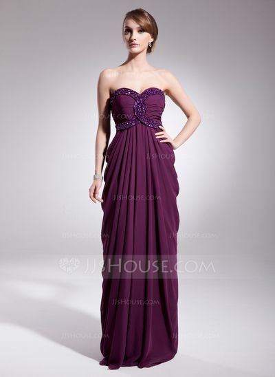 Evening Dresses - $140.19 - Empire Sweetheart Floor-Length Chiffon Evening Dress With Ruffle Beading Sequins (017014566) http://jjshouse.com/Empire-Sweetheart-Floor-Length-Chiffon-Evening-Dress-With-Ruffle-Beading-Sequins-017014566-g14566?ver=xdegc7h0