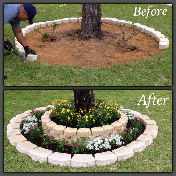 DIY Tree Ring Planter