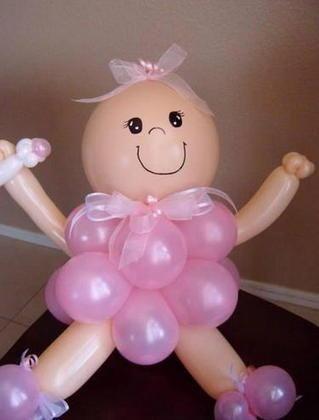 Decoraciones con globos para Baby Shower Decoración con globos