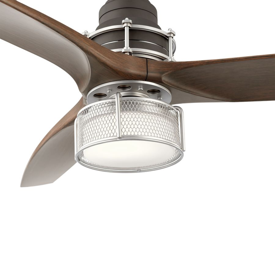 Kichler 54 In Satin Bronze Led Indoor Ceiling Fan With Light Kit And Remote 3 Blade Lowes Com Ceiling Fan Ceiling Fan With Light Elegant Ceiling Fan
