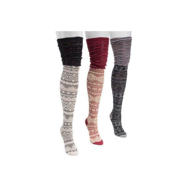 Women's MUK LUKS Microfiber Over the Knee Socks ($36) ❤ liked on ...