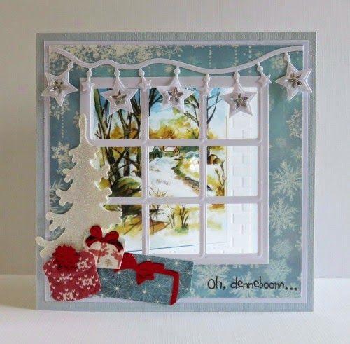 Новогодние открытки с окошками своими руками
