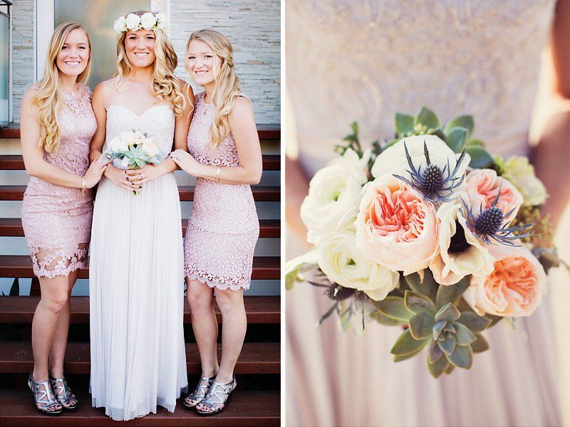 Romantic & Neutral Beach House Wedding