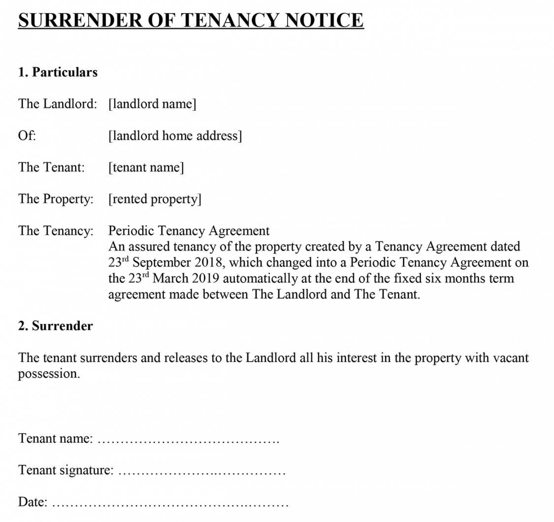 Get Our Sample Of Notice To Quit Tenancy Template Simple Cover Letter Template Being A Landlord Lettering