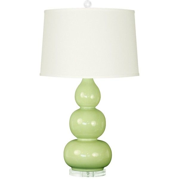 Bungalow 5 Hutton Light Green Table Lamp Base ($385) ❤ Liked On Polyvore  Featuring