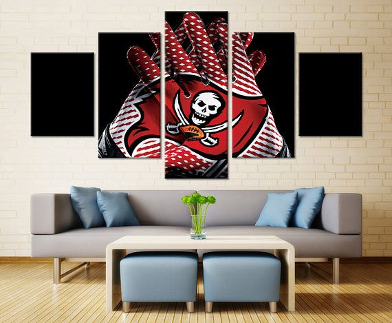 Tampa Bay Buccaneers Wall Art Home Decor Nfl Buccaneers Sports Canvas Print Gifts For Him Football Wall A Football Wall Art Man Cave Wall Art Home Decor
