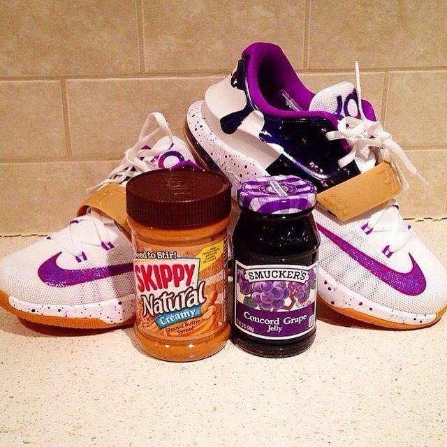 """Nike KD 7 """"PBJ"""" Peanut Butter Jelly Preschool Toddler"""