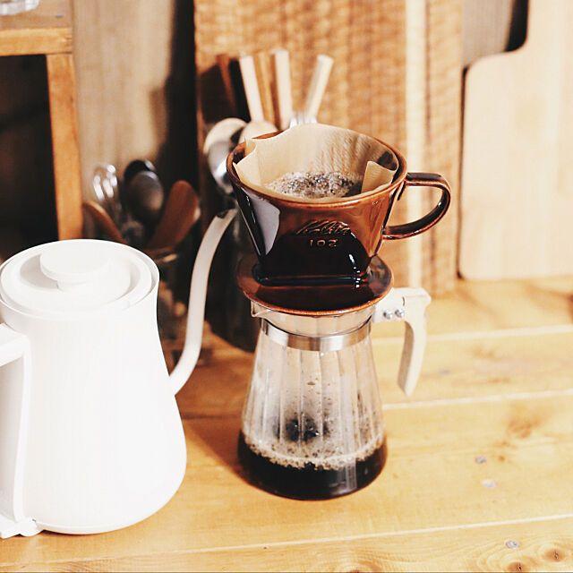 キッチン カリタのドリッパー 雑貨 セリア Diy などのインテリア実例 2018 05 09 20 51 09 Roomclip ルームクリップ コーヒー ドリップ ドリップコーヒー