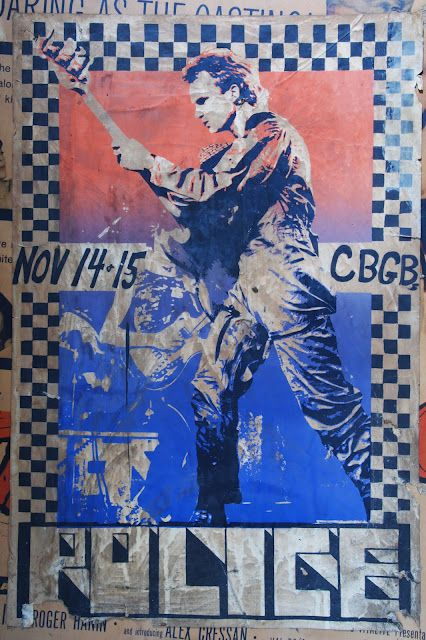 The Police (1978) - CBGB poster, became motive of a bootleg