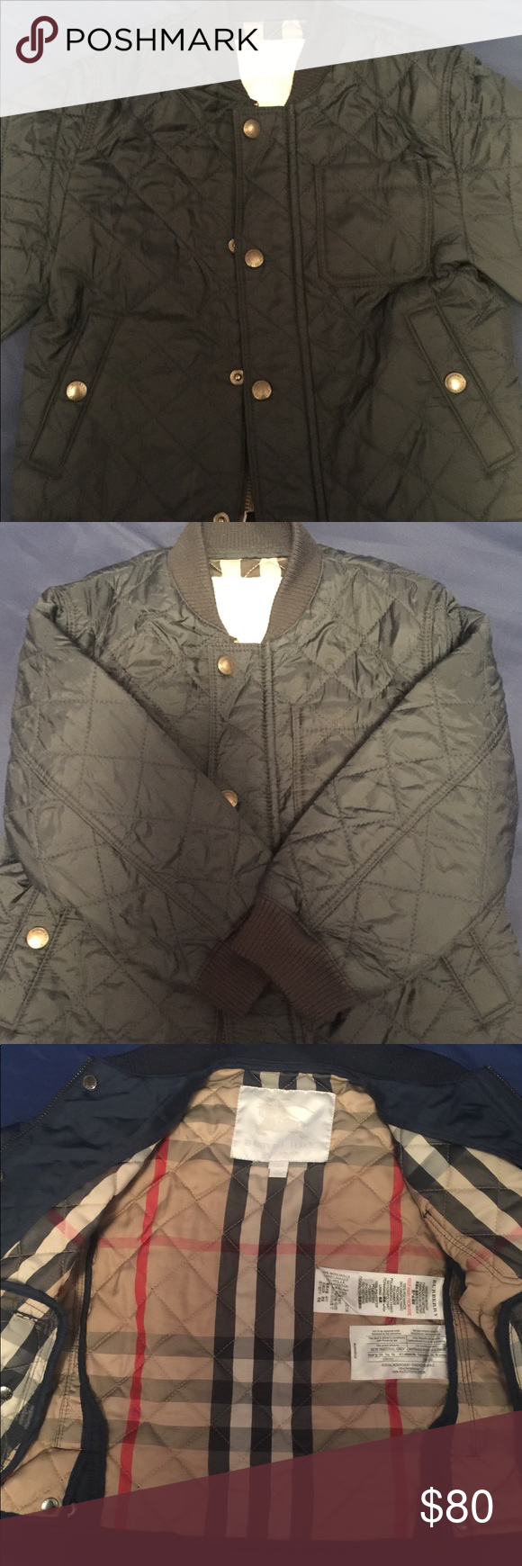 Boys Burberry Quilted Jacket Sz3y Burberry Quilted Jacket Quilted
