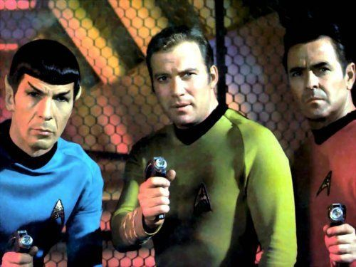 Spock, Kirk, and Scotty - Star Trek Original Series