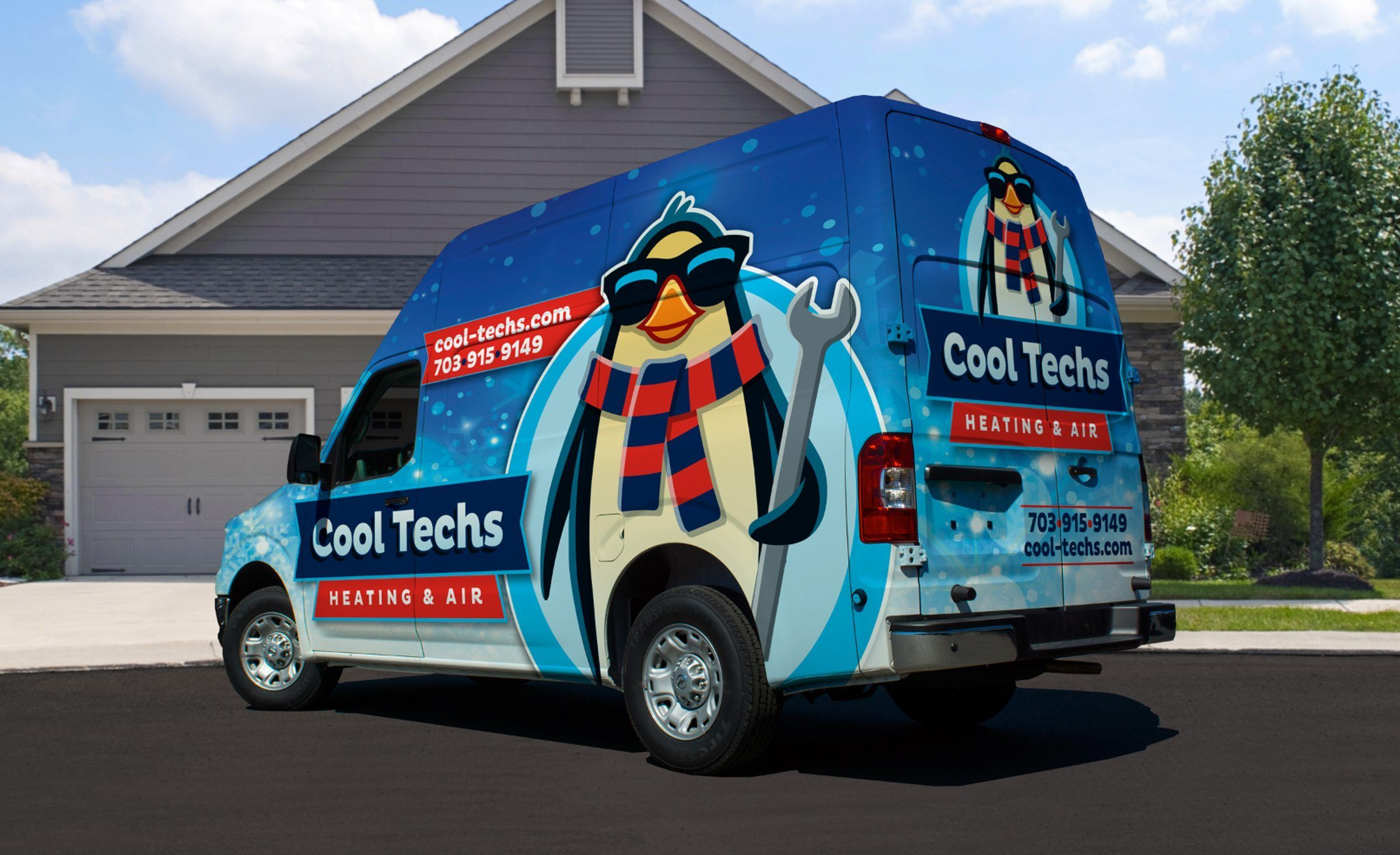 Vehicle Wrap Design For This Linden Va Based Hvac Contractor Nj Advertising Agency Nj Ad Agency Nj Truck Wr Vehicle Wrap Advertising Cool Trucks Car Wrap