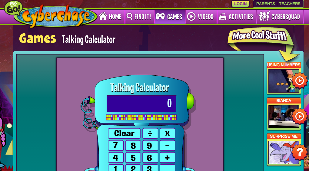 Talking animated calculator Math games for kids, Free