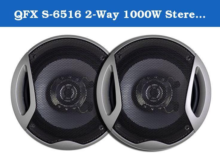 QFX S-6516 2-Way 1000W Stereo Speaker, 6 5