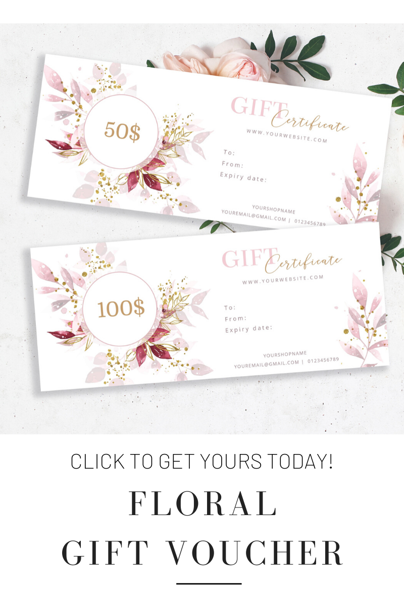 Watercolor Floral Gift Certificate Template Gift Voucher Design Idea Edit And Prin Gift Certificate Template Free Gift Certificate Template Gift Card Bouquet