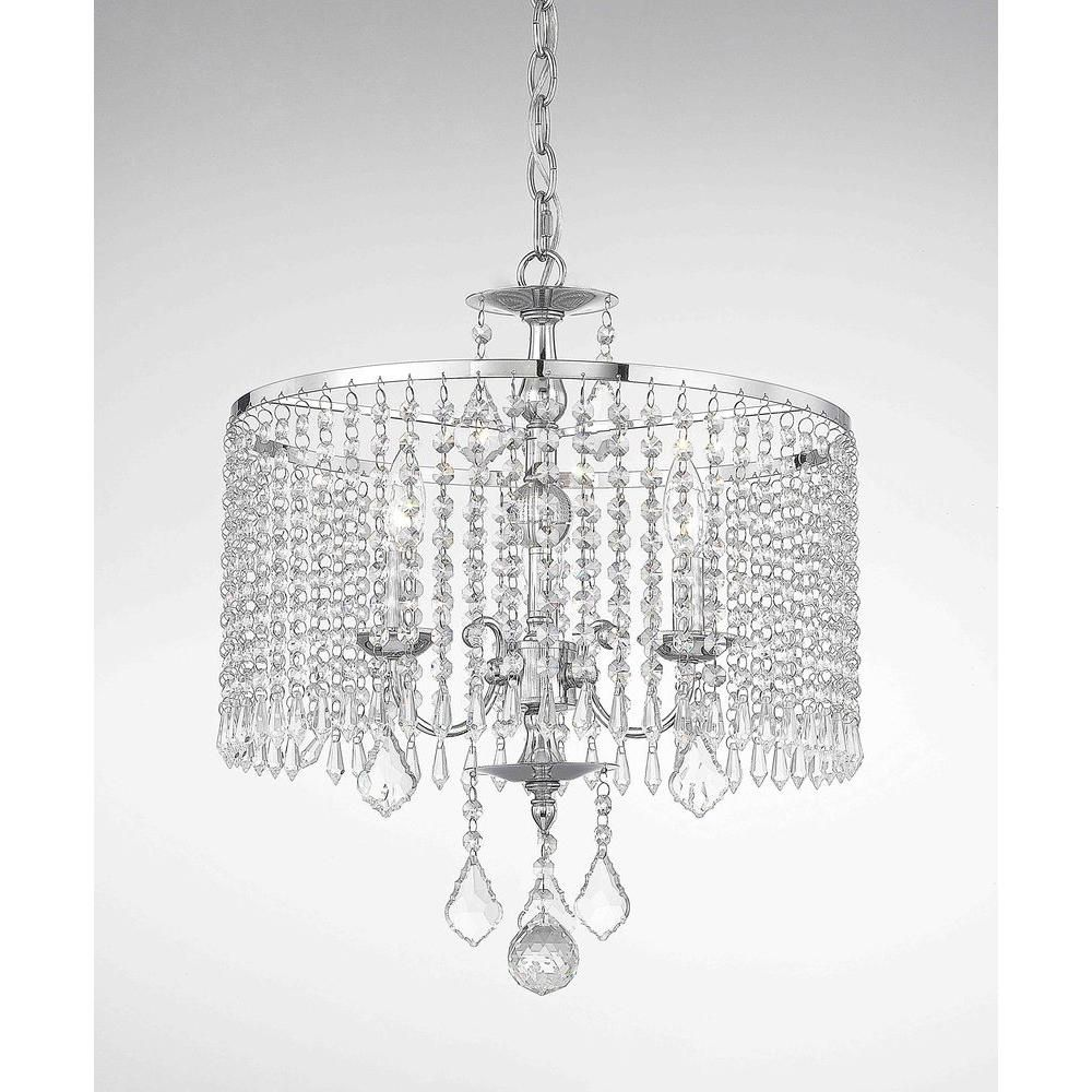 Fifth and main lighting 3 light polished chrome mini chandelier with light up your room in elegance by adding this elegant fifth and main lighting light polished chrome mini chandelier with crystal dangles aloadofball Images