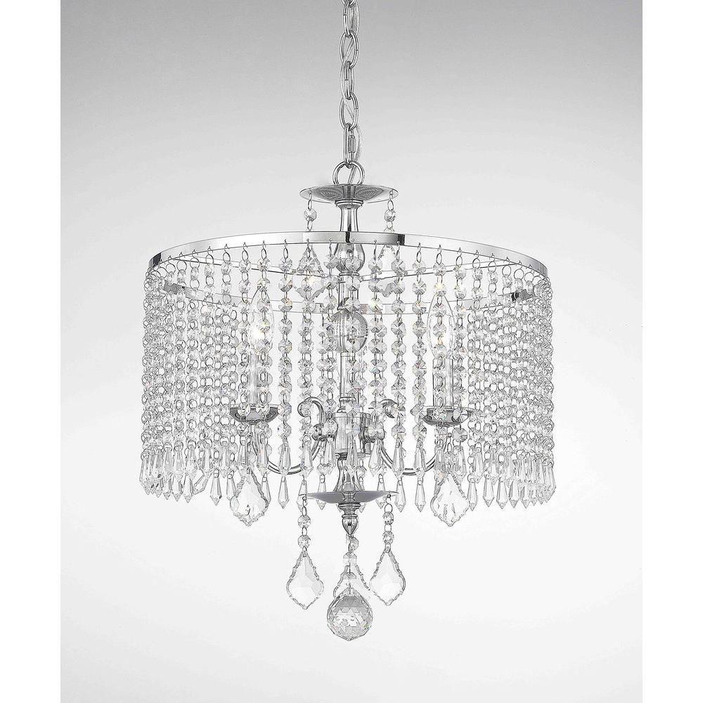 Fifth and main lighting 3 light polished chrome mini chandelier with fifth and main lighting 3 light polished chrome mini chandelier with k9 crystal dangles arubaitofo Image collections
