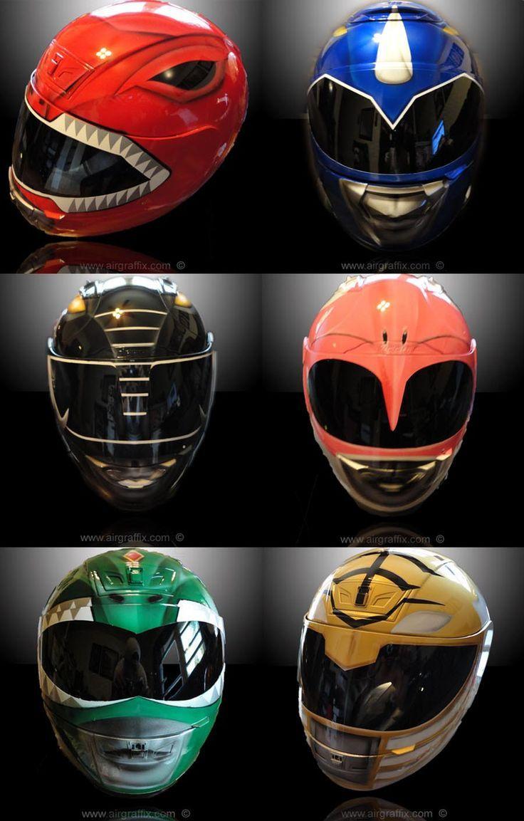 Custommotorcyclehelmetspowerrangersbackground - Motorcycle helmet designs custom stickers