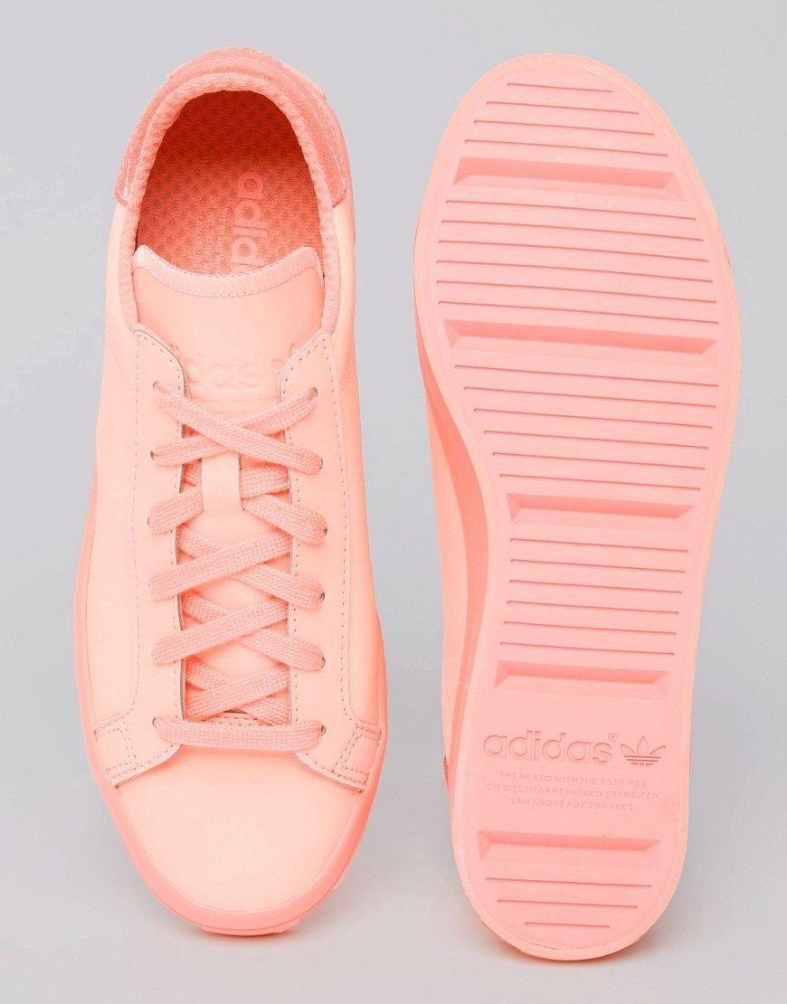 Image 3 of adidas Originals Court Vantage Super Colour Sun Glow Trainers